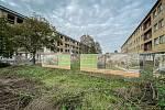 Nevyužité objekty v Hasičské ulici budou do dvou let k nepoznání. Vznikne zde bytový komplex Rezidence Park Hrabůvka. Snímek z 19. října 2020 v Ostravě.