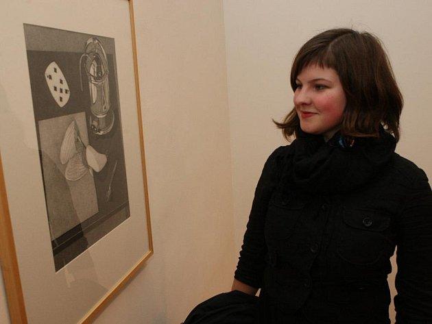 Tomáš Smetana zahájil výstavu svých pozoruhodných obrazů.