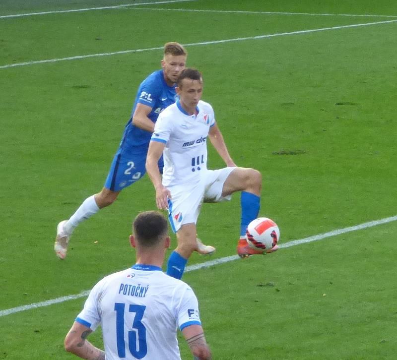 Fotbalisté Baníku Ostrava v neděli hráli v Liberci. 2. poločas.