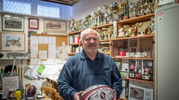 Sekretář Rugby Club Havířov Karel Gaman, 16. února 2021 v Havířově.