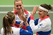 Zahájení semifinále Fed Cupu mezi českými a francouzskými tenistkami.