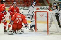 Olomoučtí hokejisté v 51. kole hostili hráče Vítkovic.