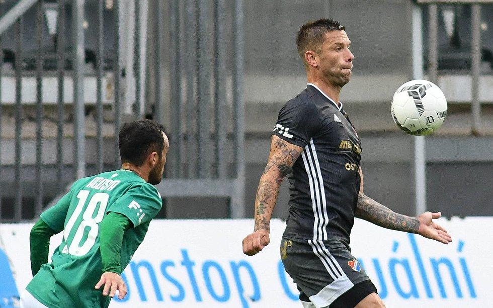 FORTUNA:LIGA - Skupina o titul, 5. kolo - FK Jablonec - FC Baník Ostrava, 8. července 2020 v Jablonci. Martin Fillo