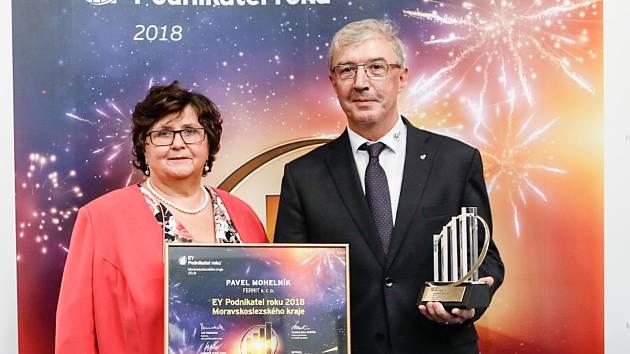 Vítěz krajského kola Podnikatele roku Pavel Mohelník, 23. ledna 2019 v Ostravě.