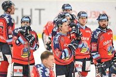 Utkání 35. kola hokejové extraligy: HC Vítkovice Ridera vs. HC Kometa Brno, 30. prosince 2017 v Ostravě. Smutek Vítkovic (Bartovič Milan, Szturc Roman)