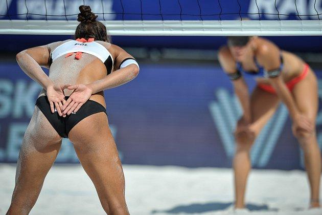 Turnaj Světového okruhu vplážovém volejbalu, 21.června 2018vOstravě. Na snímku Wachowicz.