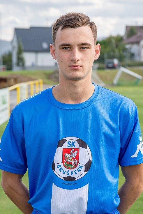 Fotbalový klub - Spolek SK Brušperk, 26. srpna 2020 v Brušperku. Vojtěch Sýkora (záložník)