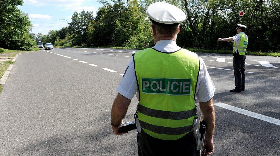 Dopravně bezpečnostní akce probíhá na mnoha místech v Ostravě.