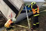Nehoda v Dolním Benešově, pátek 26. února 2021.