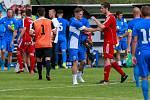 Fotbalisté Vítkovic (v modrém) porazili juniorku Baníku Ostrava.