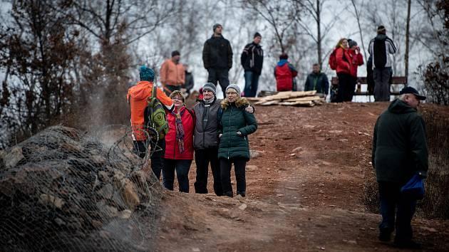 Novoroční výstup na haldu Ema, 1. ledna 2020 v Ostravě.