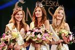Vyhlášení české Miss 2018 v Gongu.Vítězky České Miss - zleva druhá Jana Šišková, první Lea Šteflíčková, a třetí Tereza Křivánková