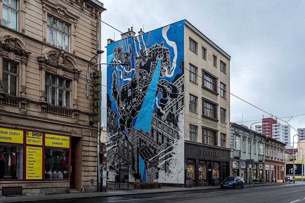 V centru vznikla nástěnná malba (mural), která bude zdobí fasádu domu v proluce v Nádražní ulici. Muralartovou malbu vytvořil polský umělec Mariusz M-City Waras, 29. září 2020 v Ostravě.