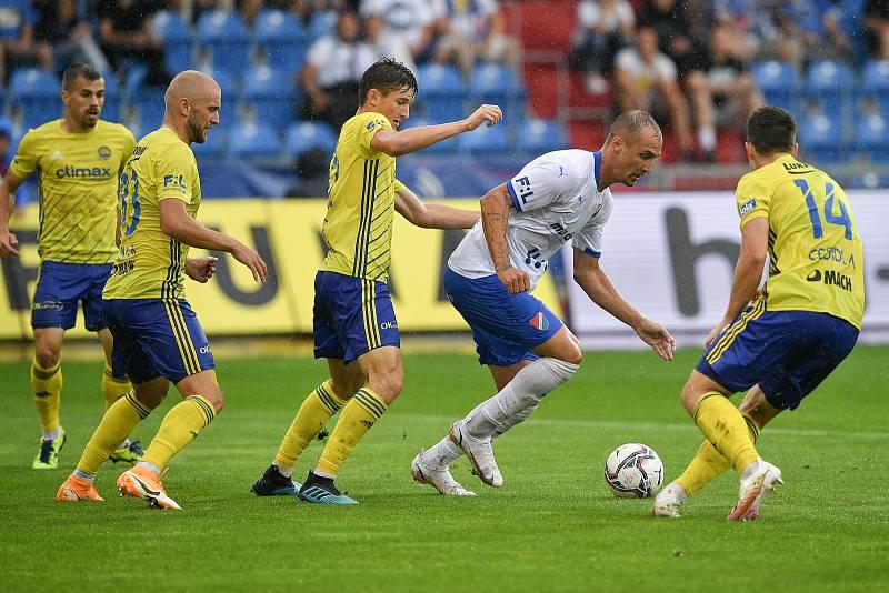 Utkání 2. kola první fotbalové ligy: Baník Ostrava - Fastav Zlín, 1. srpna 2021 v Ostravě. (střed) Jiří Klíma z Ostravy.