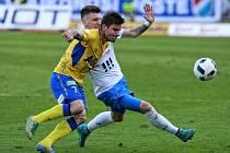 Fotbalisté ostravského Baníku prohráli v utkání 22. kola první ligy doma s Teplicemi 1:2. Jednu z branek Teplic vstřelil záložník Martin Fillo.