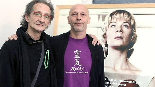 Eric Trottier (vpravo) a Igor Vejsada se podíleli na tvorbě představení Poslední samuraj.