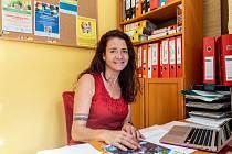Ředitelka Edita Kozinová, ředitelka rodinného a komunitního centra Chaloupka v Ostravě.