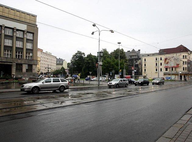 Pohled na náměstí dr. Beneše v Ostravě
