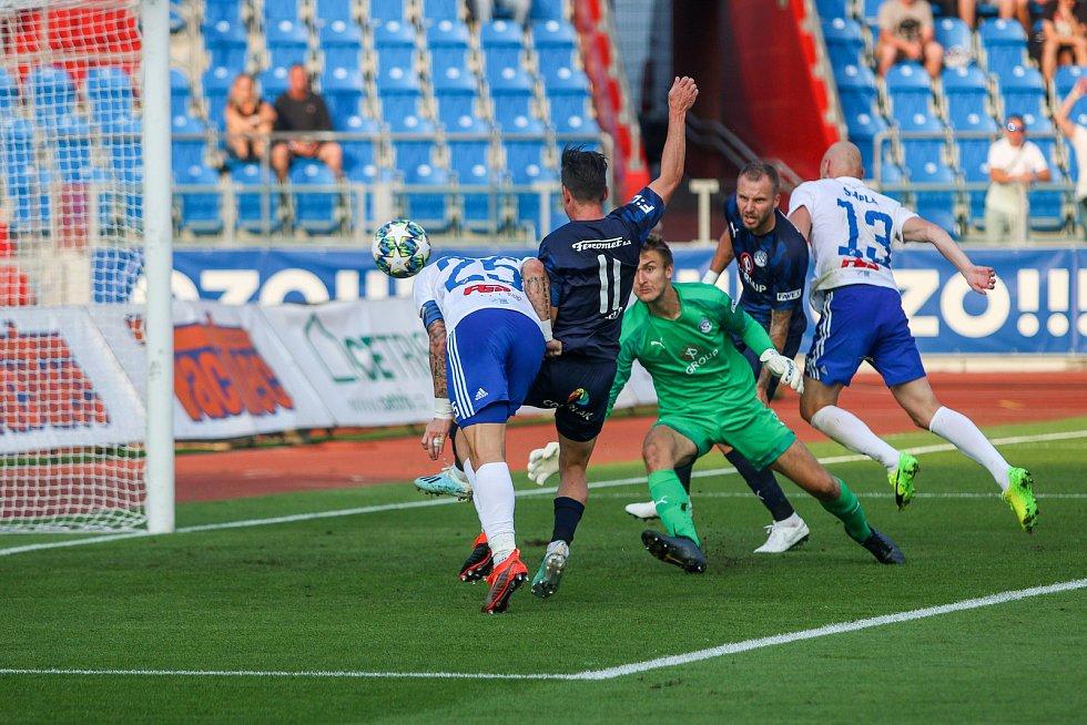Utkaní 7. kola fotbalové FORTUNA:LIGY: FC Baník Ostrava - 1. FC Slovácko, 23. srpna 2019 v Ostravě.