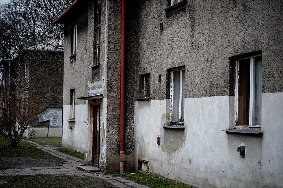 Městská část Mariánské Hory a Hulváky, 6. února 2020 v Ostravě. Na snímku lokalita Červený kříž.
