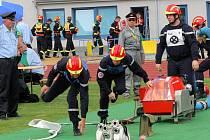 Účastníci světov ých her hasičů trénovali na vítkovickém stadionu
