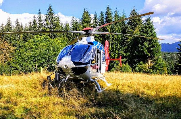 Ilustrační foto ze zásahu letecké záchranné služby v Beskydech.