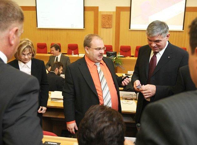 Ze zasedání nového krajského zastupitelstva.