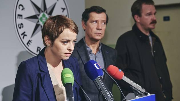 Snímek z natáčení pátého dílu krimiseriálu České televize Místo zločinu Ostrava.