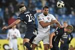 Utkání 16. kola první fotbalové ligy: FC Baník Ostrava - FC Slovácko, 24. listopadu 2018 v Ostravě. (zleva) Jiří Kejčí, Milan Baroš a David Machalík.
