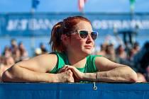 Finále muži: ČR - Norsko. FIVB Světové série v plážovém volejbalu J&T Banka Ostrava Beach Open, 2. června 2019 v Ostravě. Na snímku Iva Šípová (TJ Sokol Frýdek-Místek).