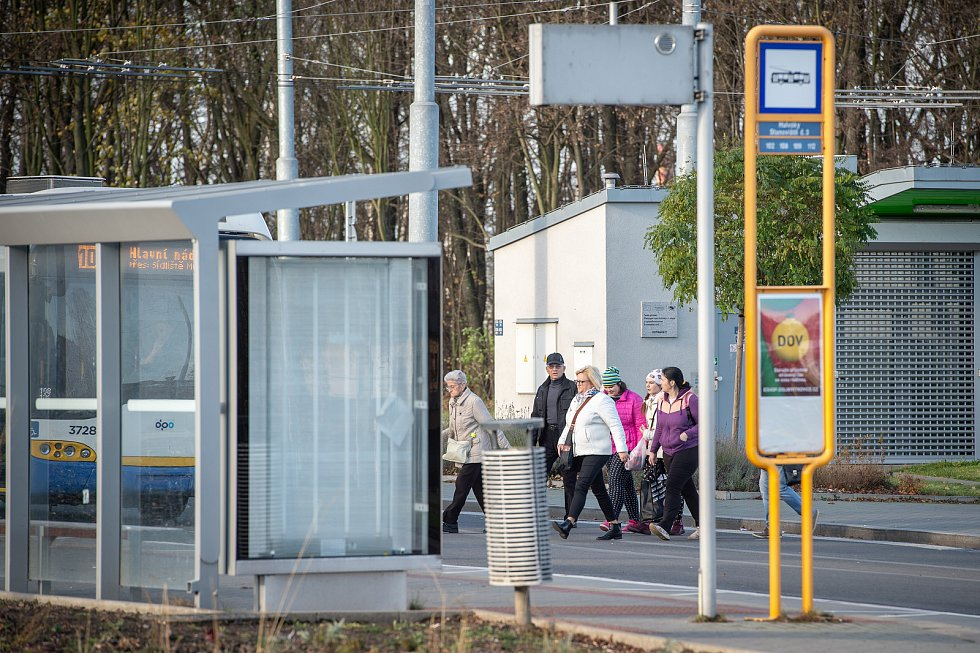 Dopravní terminál Hulváky.