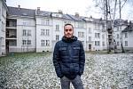 Jubilejní kolonie v Ostravě-Hrabůvce, leden 2019. Na snímku jeden z místních obyvatel Adam Svěchovský.