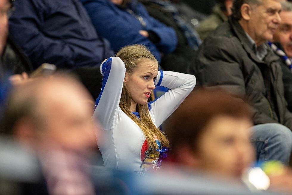 Utkání 29. kola hokejové extraligy: HC Vítkovice Ridera - Bílí Tygři Liberec, 21. ledna 2020 v Ostravě. Na snímku roztleskávačka.
