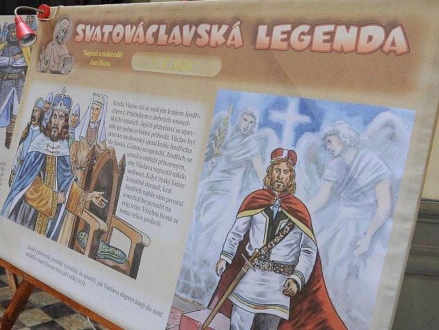 Obří panely s obrázky a textem přibližující osudy patrona země české svatého Václava byly v úterý 28. září k vidění v kostele Neposkvrněného početí Panny Marie v Ostravě-Přívoze.