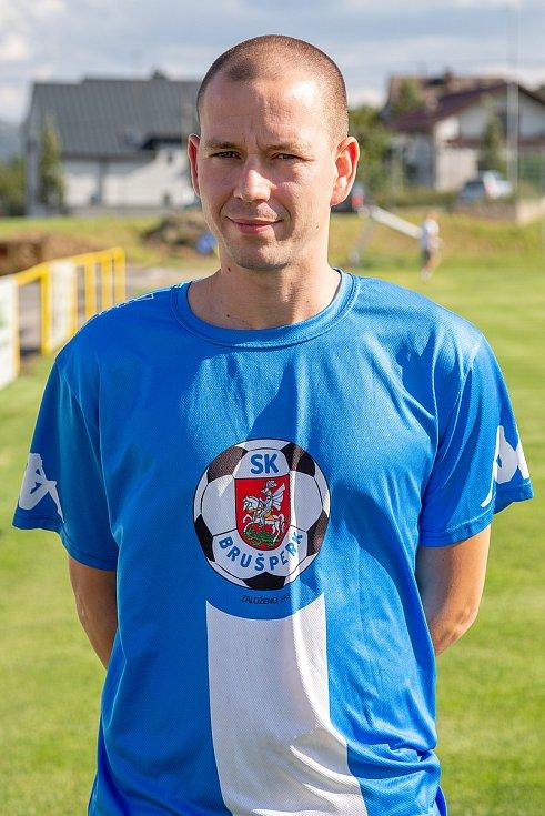 Fotbalový klub - Spolek SK Brušperk, 26. srpna 2020 v Brušperku. Martin Váňa (záložník)