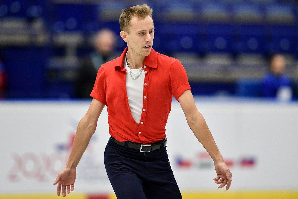 Mezinárodní mistrovství ČR v krasobruslení v Ostravar Aréně 2019 v Ostravě. Na snímku Michal Březina.