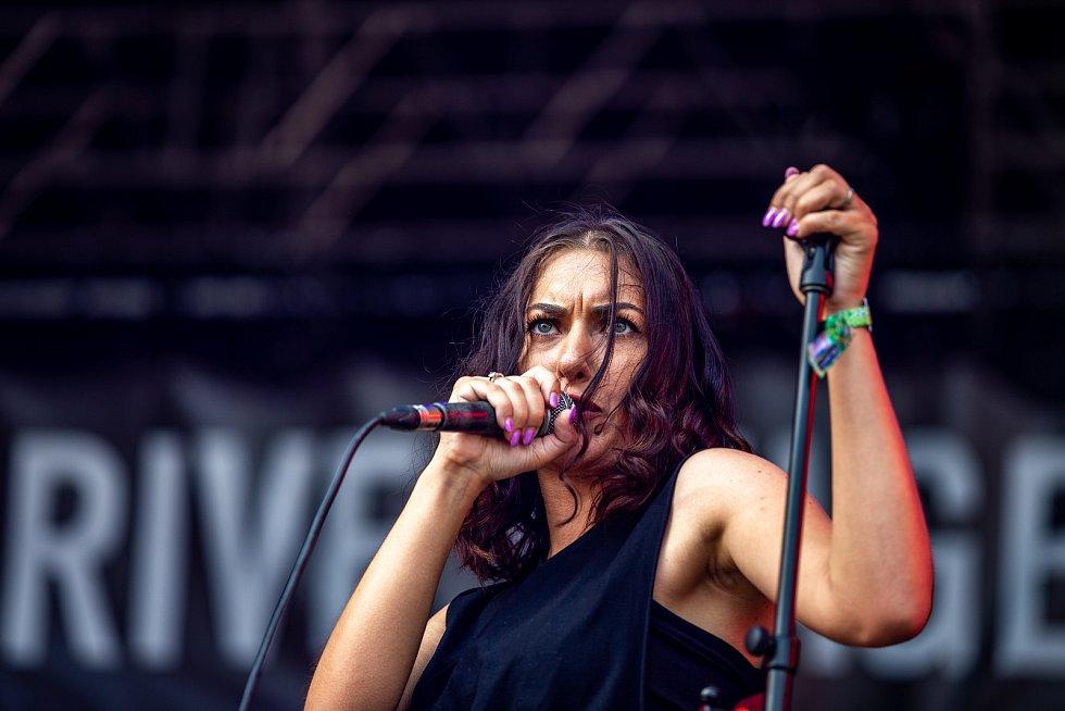 Hudební festival Colours of Ostrava 2019 v Dolní oblasti Vítkovice, 20. července 2019 v Ostravě. Na snímku Time Shifters.