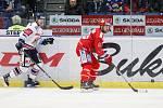 Utkání 34. kola hokejové extraligy: HC Vítkovice Ridera - HC Oceláři Třinec, 12. ledna 2019 v Ostravě. Na snímku (zleva) David Květoň, Vladimír Svačina.