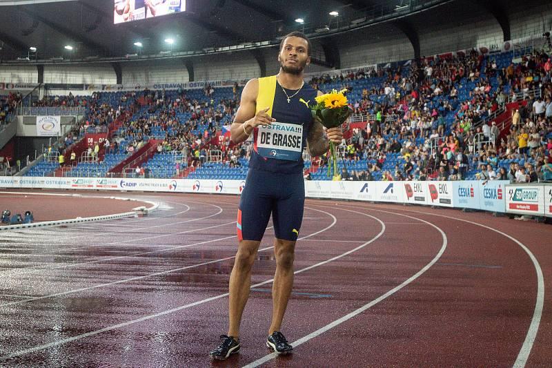 Zlatá tretra, atletický mítink IAAF World Challenge, 20. června 2019 v Ostravě. Na snímku Andre De Grasse.