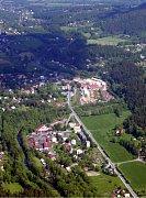 Pohled na obec Ostravice