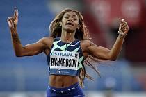 Zlatá tretra, atletický mítink kategorie Continental Tour - Gold, 19. května 2021 v Ostravě. Sha'Carri Richardson (USA), 200 m ženy.