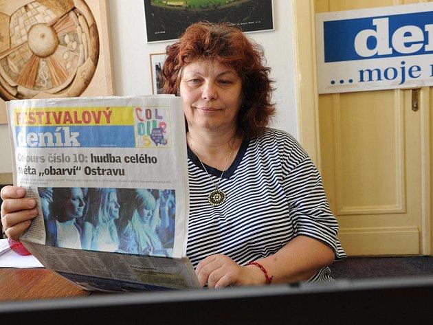 Zlata Holušová v úterý dorazila do redakce Deníku odpovídat na dotazy čtenářů.