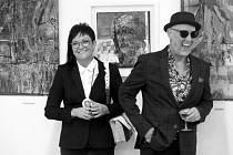 Britský umělec David John Lloyd na zahájení výstavy v Havířově.