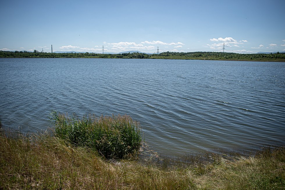 Karvinské moře u Darkova, 1. července 2020 v Karviné.