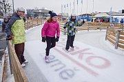 Olympijský festival v Ostravě, 12. února 2018. Disciplína bruslení.