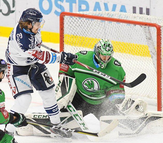 Utkání 23.kola hokejové extraligy: HC Vítkovice Ridera - BK Mladá Boleslav, 28.listopadu 2019vOstravě.