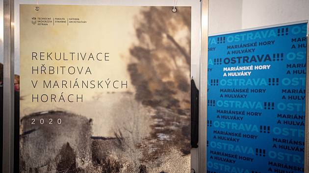 Výstava - Rekultivace hřbitova v Mariánských horách, 29. června 2020 v Ostravě.