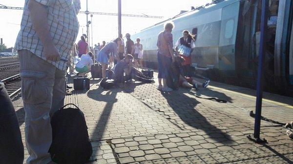 Nehoda vlaku.