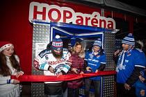 Mikulášský trojboj (HC Vítkovice Ridera - FC Baník Ostrava) v areálu Skalka Family Park, 3. prosince 2019 v Ostravě.