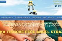 Úvodní stránka webu.